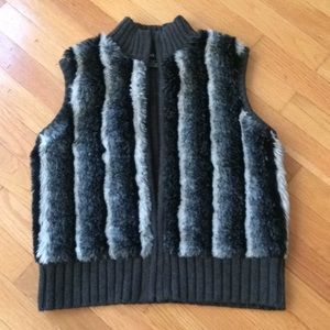 Cute Faux Fur Sweater Vest